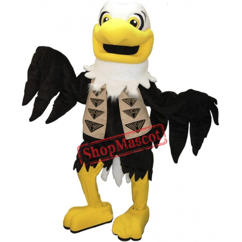 Happy Lightweight Eagle Mascot Costume