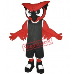 Fierce Red Owl Mascot Costume