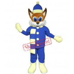 Winter Fox Mascot Costume