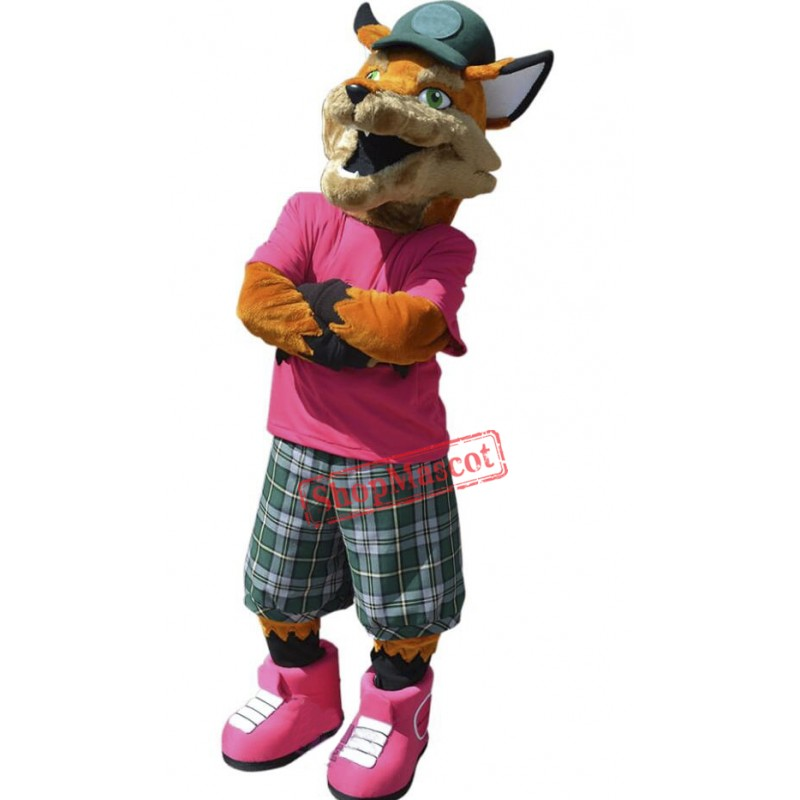 Realistic College Fox Mascot Costume