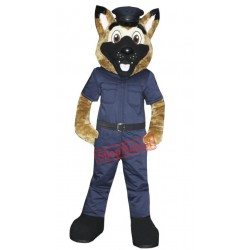 Police Dog Mascot Costume Free Shipping