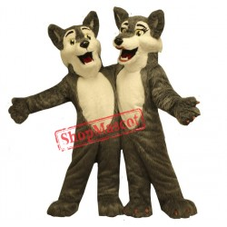 Boy & Girl Wolf Mascot Costume