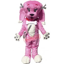 Cute Pink Dog Mascot Costume