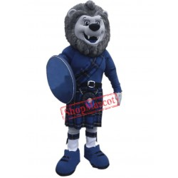 Blue Lightweight Lion Mascot Costume