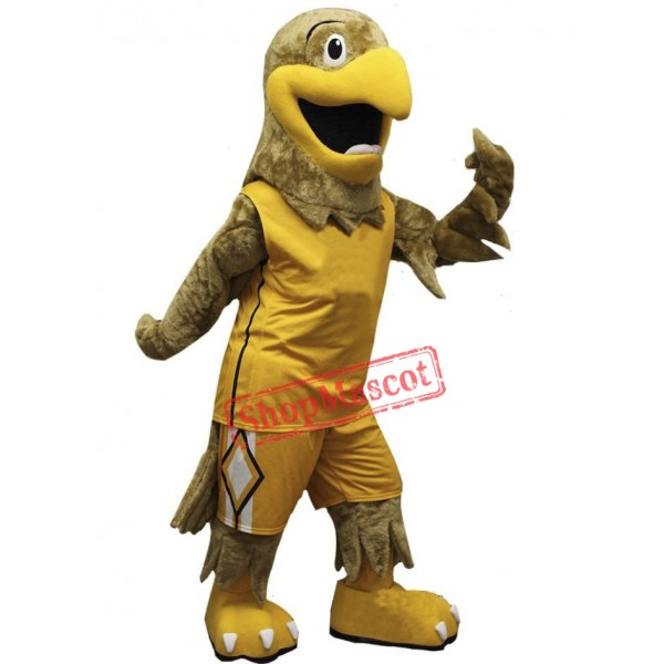 Sport Yellow Hawk Mascot Costume