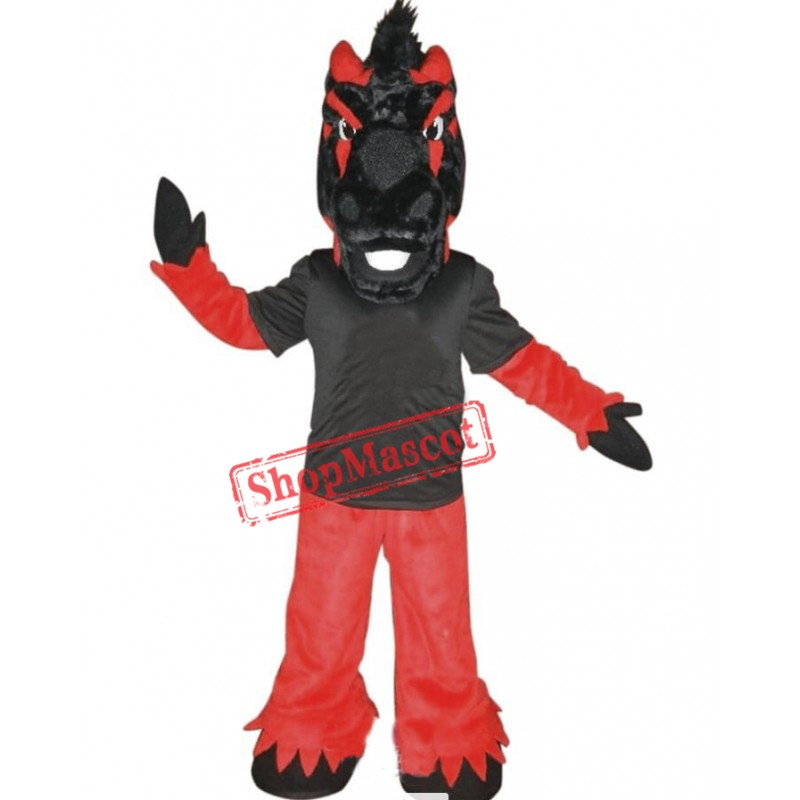 Black & Red Horse Mascot Costume