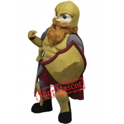 College Warrior Mascot Costume