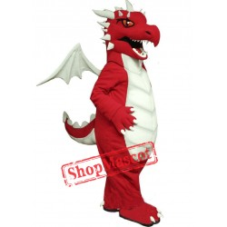 Fierce Red Dragon Mascot Costume