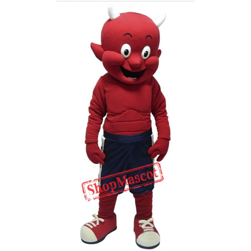 Cute Lightweight Devil Mascot Costume