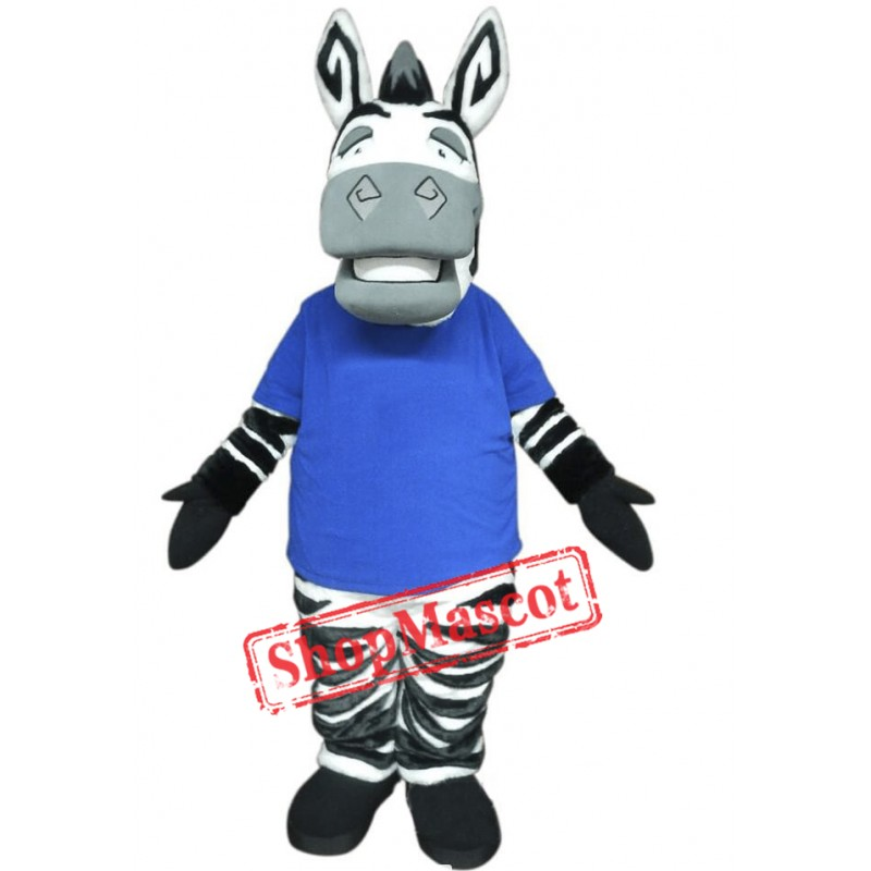 Cute Lightweight Zebra Mascot Costume