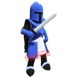 Blue Titan Knight Mascot Costume