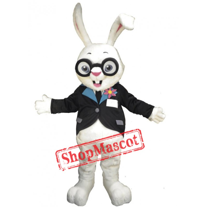 Cute White Lightweight Rabbit Mascot Costume