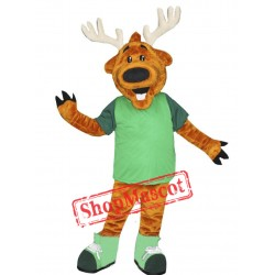 Happy Lightweight Deer Mascot Costume