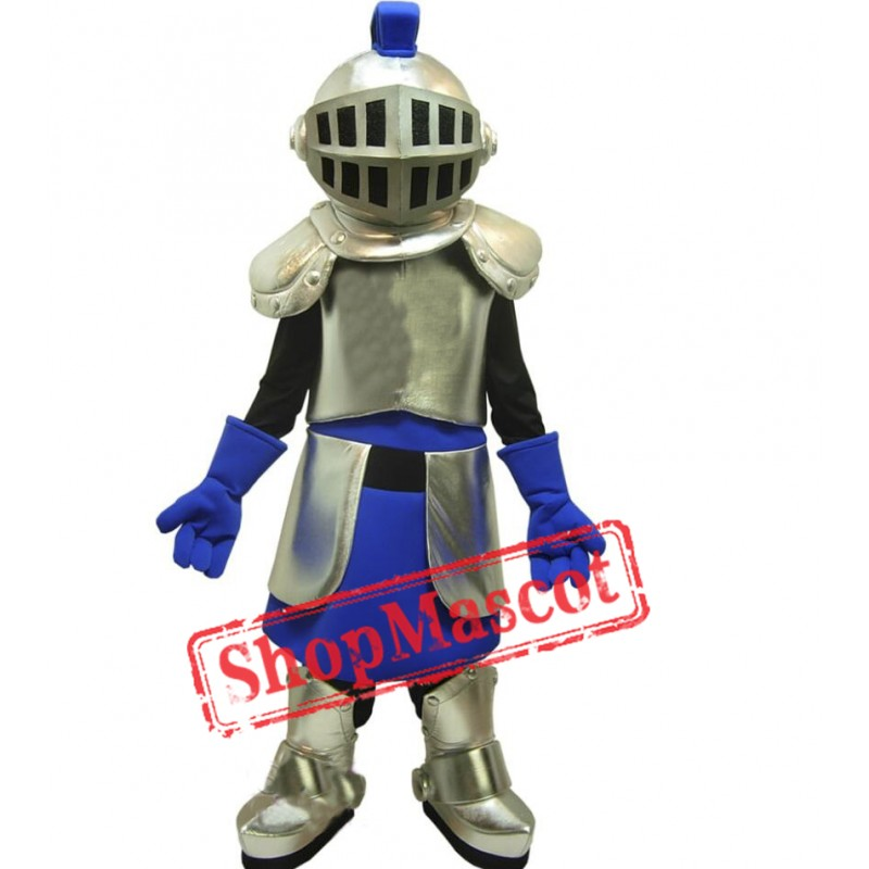 Golden & Blue Knight Mascot Costume
