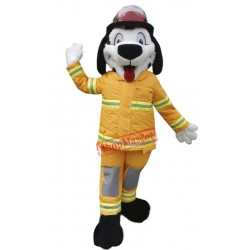 Cute Fire Department Dog Mascot Costume
