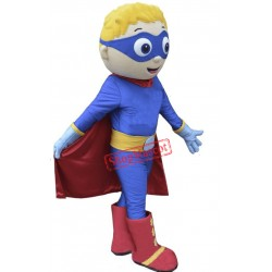 Super Boy Mascot Costume