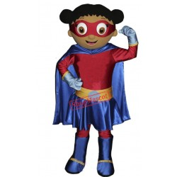 Super Hero Girl Mascot Costume