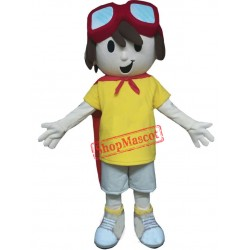 Cute Super Boy Mascot Costume