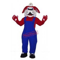 Red Cross Dog Mascot Costume