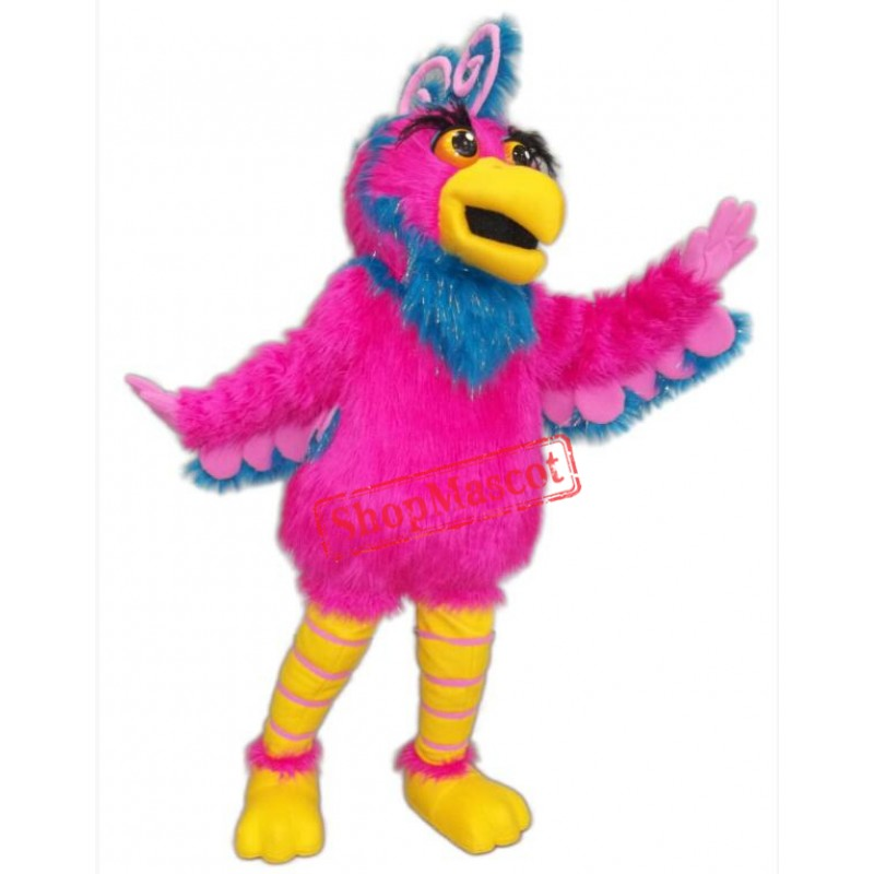 Pink Parrot Mascot Costume