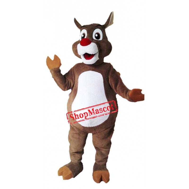 Christmas Reindeer Mascot Costume Free Shipping