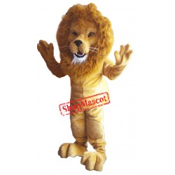 Power Muscular Lightweight Lion Mascot Costume