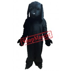 All Black Dog Mascot Costume