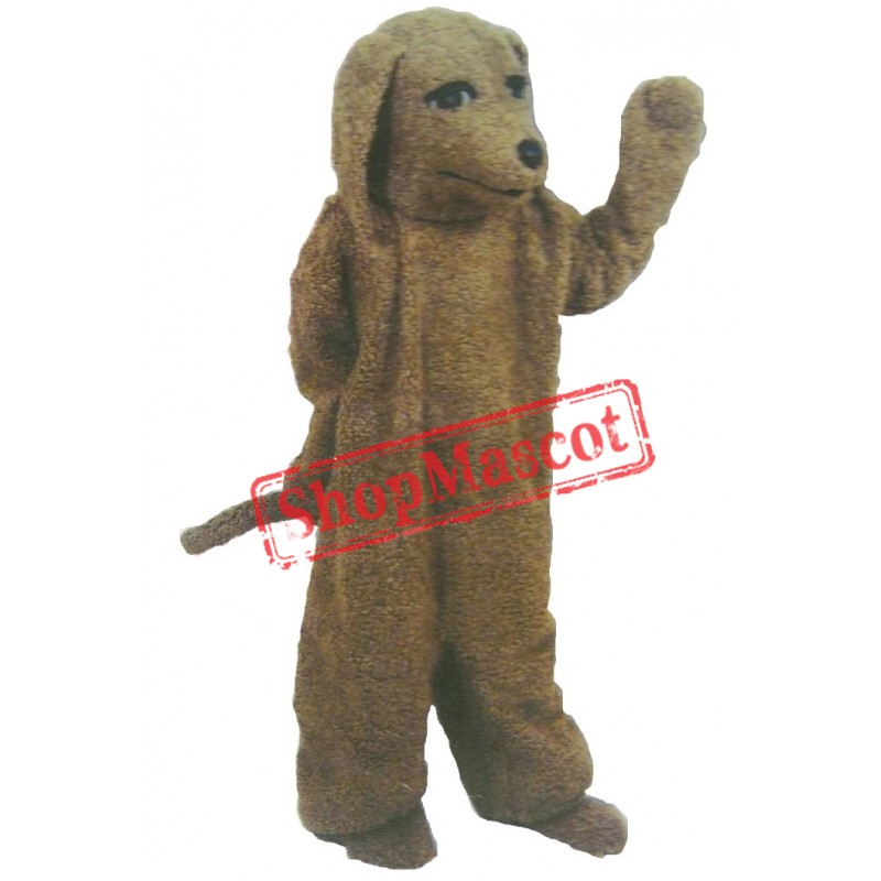 Friendly Poodle Dog Mascot Costume