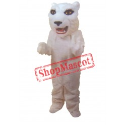 White Lightweight Tiger Mascot Costume