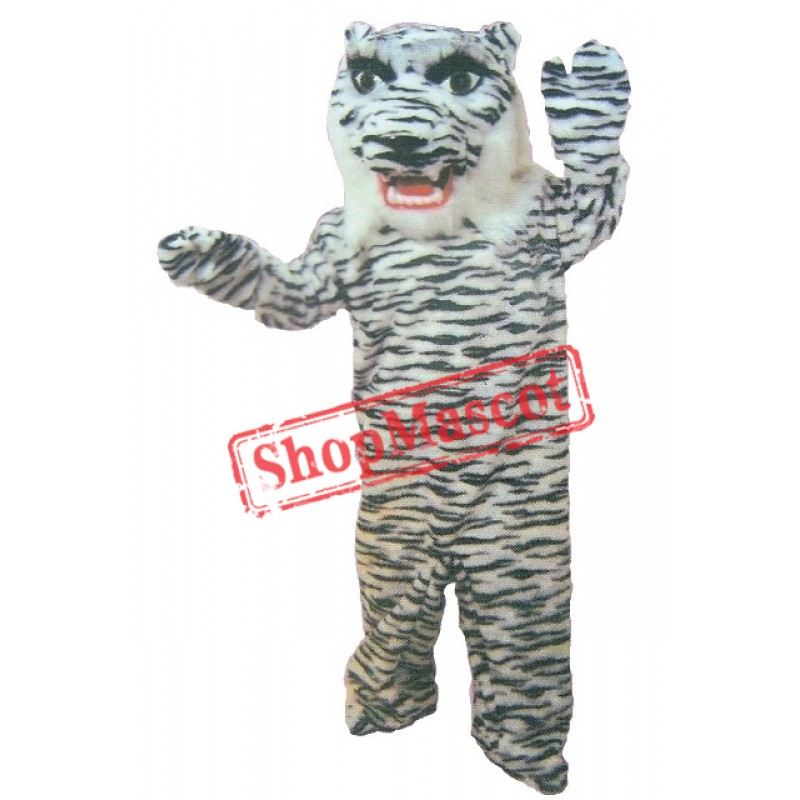 White Bengal Tiger Mascot Costume
