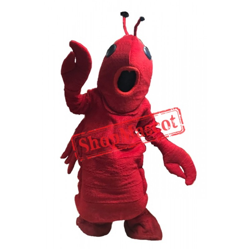 Red Lightweight Lobster Mascot Costume