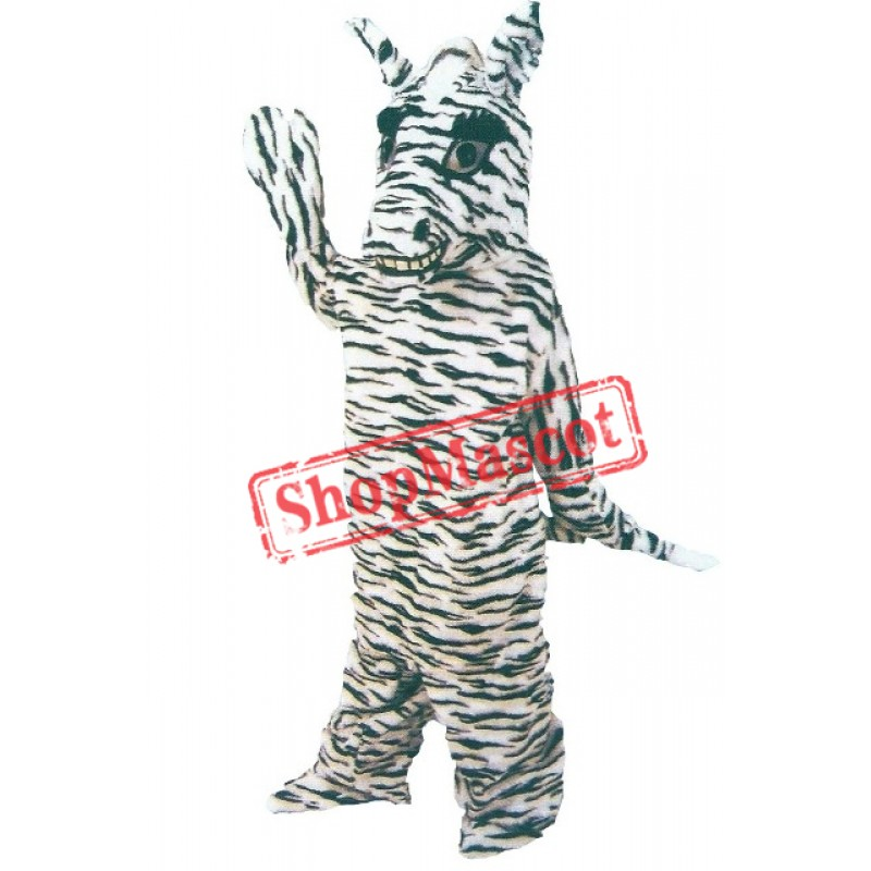 Friendly Zebra Mascot Costume
