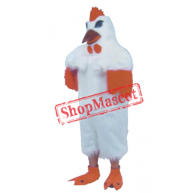 White Lightweight Chicken Mascot Costume