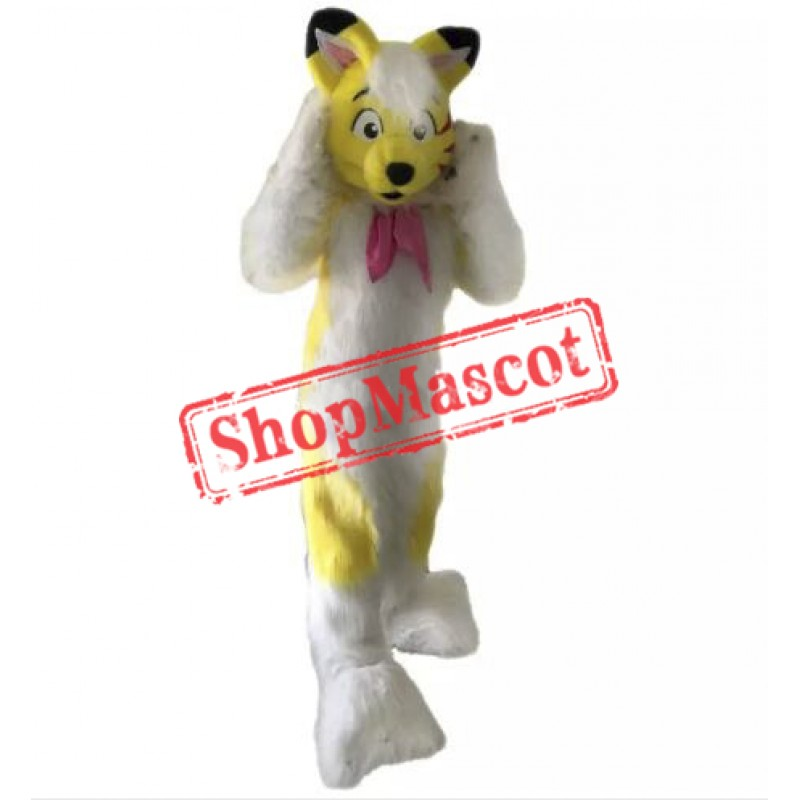 Yellow Husky Mascot Costume