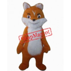 Cute Orange Fox Mascot Costume