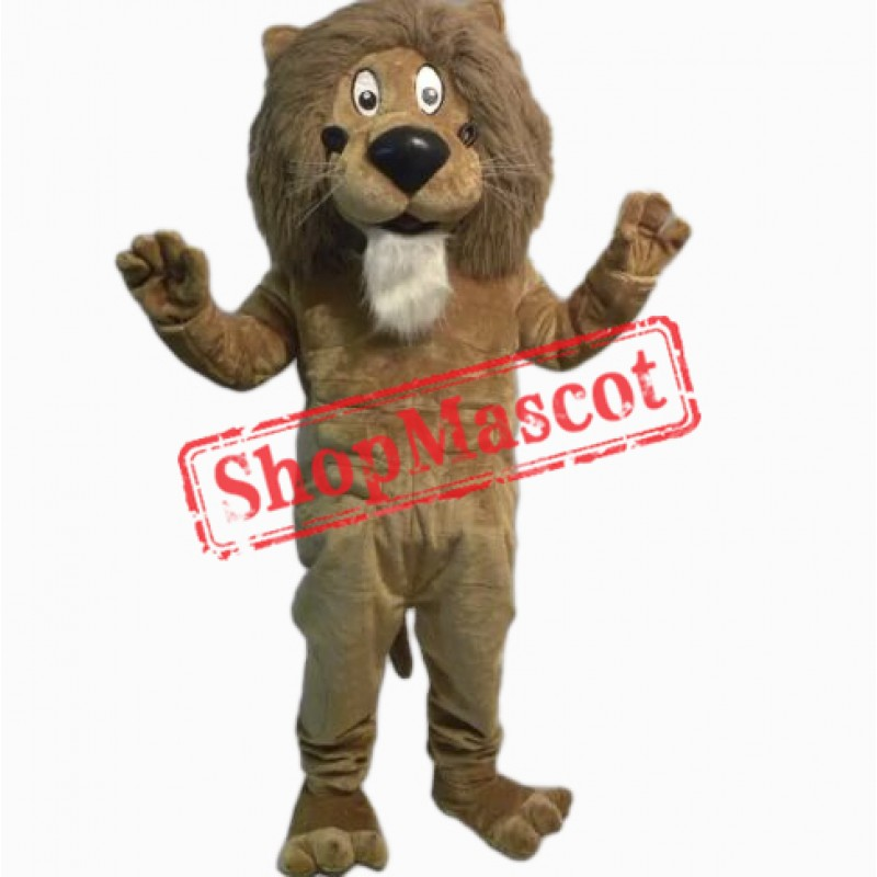 Friendly Lightweight Lion Mascot Costume