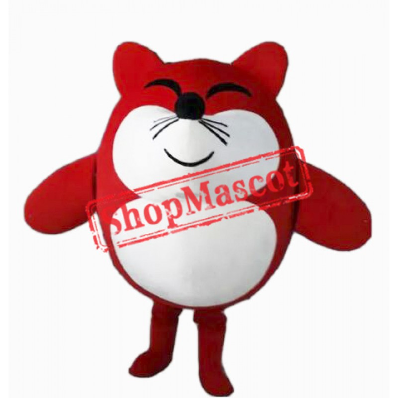 Red Mouse Mascot Costume