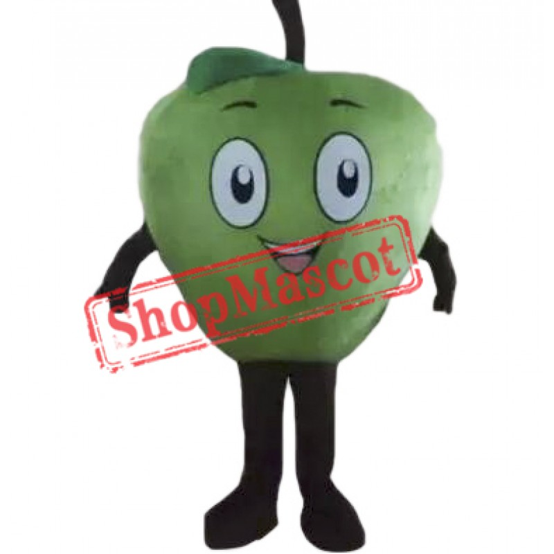 Cyan Apple Mascot Costume
