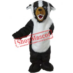White & Black Dog Mascot Costume