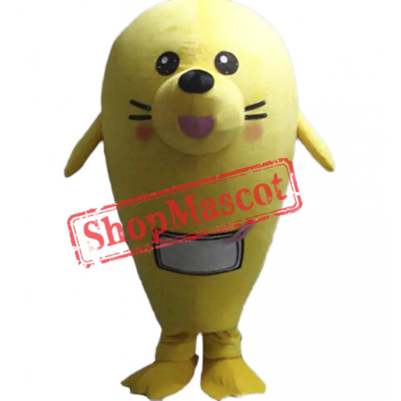 Yellow Seal Mascot Costume