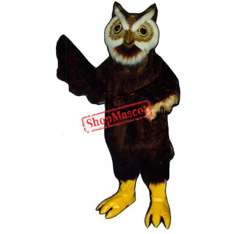 Black Owl Mascot Costume