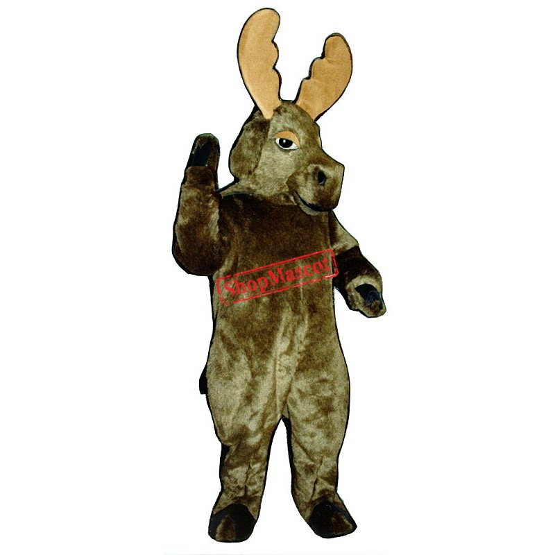 Grey Moose Mascot Costume