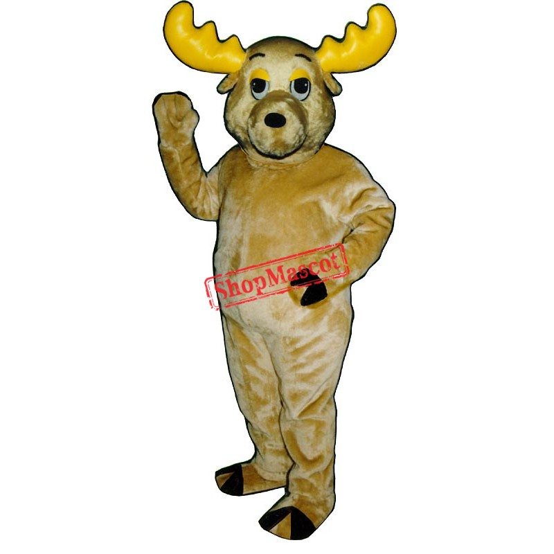 Morty Moose Mascot Costume