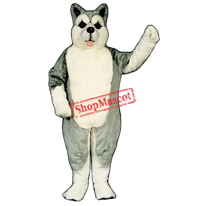 Cute Husky Mascot Costume