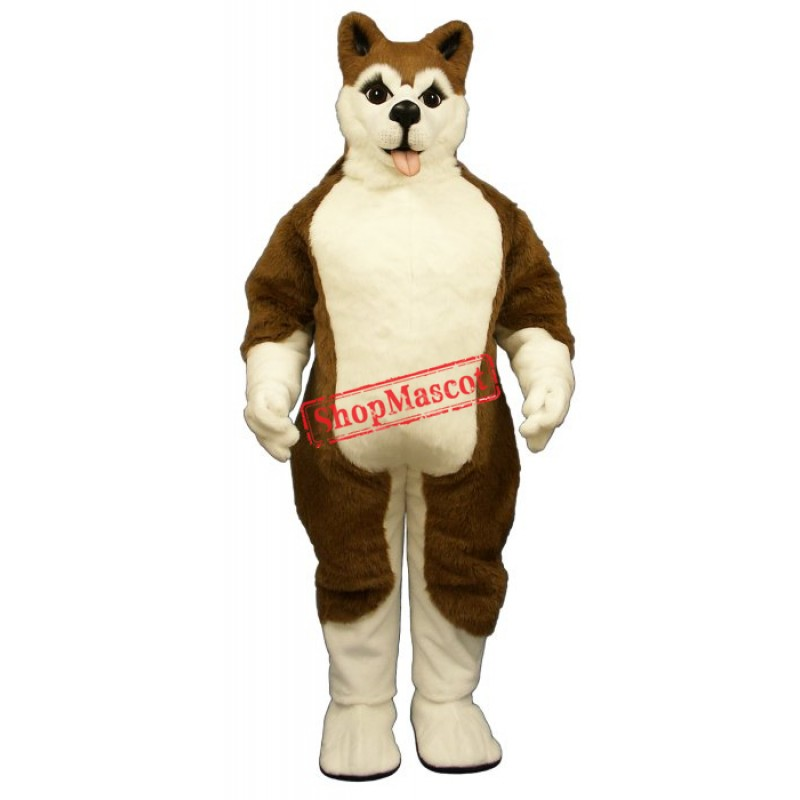 Brown Husky Mascot Costume