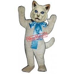 Cat w/ Bow Mascot Costume