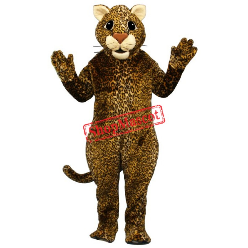 Leaping Leopard Mascot Costume