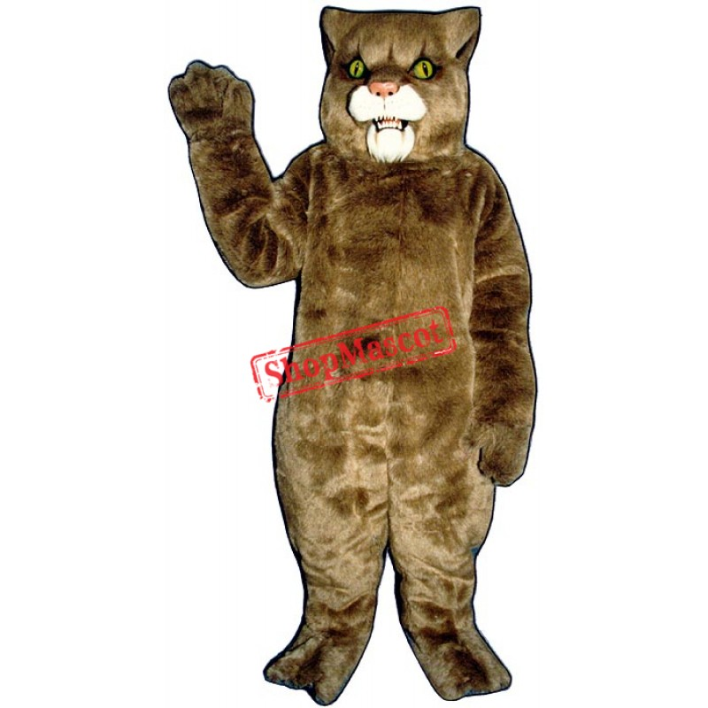 Brown Wildcat Mascot Costume