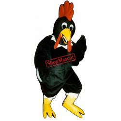 Black Rooster Chicken Mascot Costume