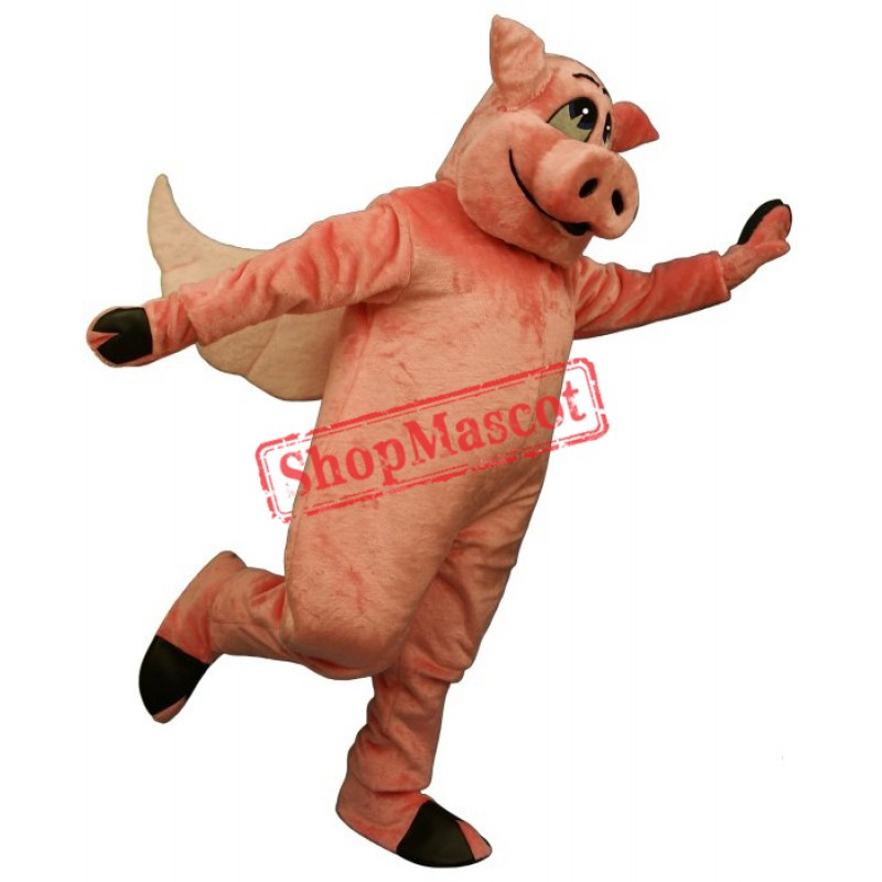 Flying Hog Pig Mascot Costume
